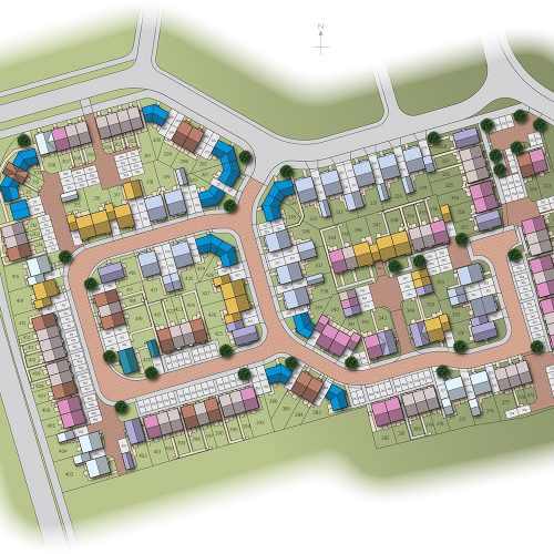 Bramford Road Great Blakenham site plan