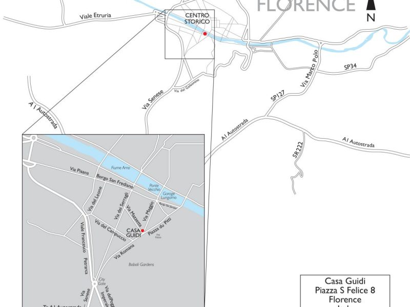 Landmark Trust Florence location map