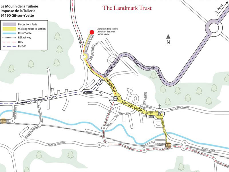 Le Moulin Landmark Trust location map